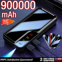 900000mAh Power Bank 2USB Portable Charger Travel Battery Pack for Cell Phone