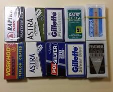 10 Sampler double edge razor blades FEATHER POLSILVER GSB Red IP polsilver Astra
