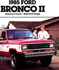1985 FORD BRONCO II BROCHURE -XLS-XLT-EDDIE BAUER-4X4