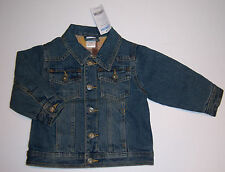 NWT Gymboree Rodeo Cowboy 12-18-24 Months Plaid Lined Denim Jean Jacket