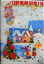 Superbe Grande Carte postale de Meilleurs voeux + musique de noel + enveloppe
