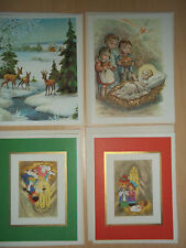 4 Vintage Alfred Mainzer Christmas Cards - Mint