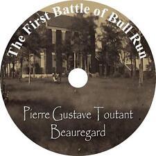First Battle of Bull Run, Gustave Beauregard Civil War Audiobook on 1 MP3 CD