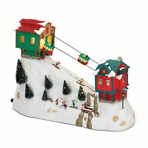 NEW Mr Christmas Winter Wonderland Moving Cable Cars & Skiers Music Box VIDEO!!!