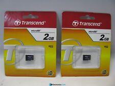 Transcend TS2GUSDC 2GB MicroSD Lot of 2