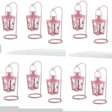 10 Pink Lantern Small Mini-Candleholder Wedding Centerpieces Baby Shower Decor