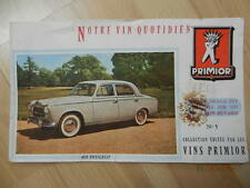 Buvards Vin Primior N° 5 Peugeot 403