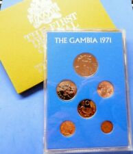 Coin Set The Gambia 1971 Royal Mint Proof Set Crocodile 1Dalasi-1 Butut Cased