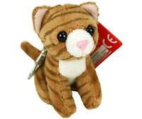 Aurora Kitties 4 inch Soft Plush Key Clip - Tabby Striped