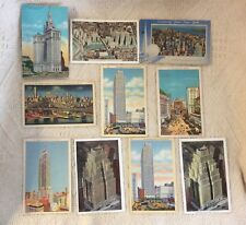 Lot of 10 Vtg Post Cards New York City 30s & 40s - Posted