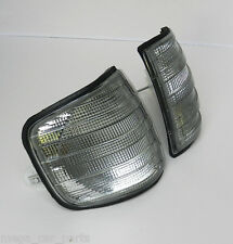 MERCEDES S-CLASS [W126] 1980-1991 FRONT INDICATOR PAIR REPEATER SET - SMOKED