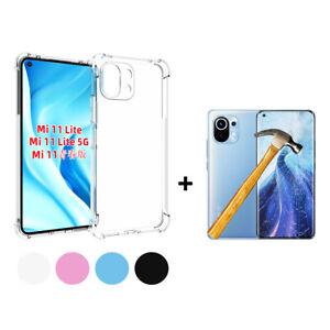 Funda gel TPU silicona anti golpe Xiaomi Mi 11 Lite + Protector Cristal Templado