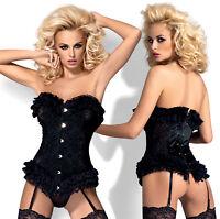 Garter Straps and Matching Thong Set OBSESSIVE Frillita Luxury Sheer Corset