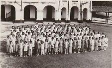 SINGAPORE Postcard FAIRFIELD GIRLS SCHOOL c1930 Real Photo RPPC teacher students