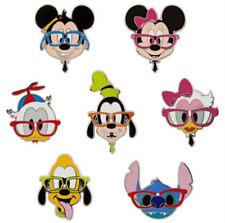 Disney Booster Pin SET✿Nerds Rock Head Collection Stitch Mickey Minnie Pluto Dog
