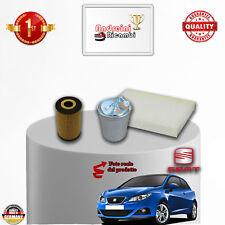 KIT TAGLIANDO 3 FILTRI SEAT IBIZA V 2.0 TDI 105KW 143CV DAL 2010 ->