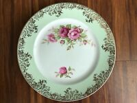 Antique old vintage Royal Harley Staffordshire Plate with gold pattern,very good
