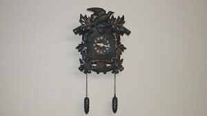 Battery Operated Quartz Faux Wall Hanging Cuckoo Clock - Works