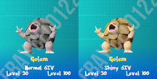 GOLEM NORMAL / ⚡SHINY⚡ PERFECT 6IV - POKEMON LETS GO PIKACHU AND EEVEE