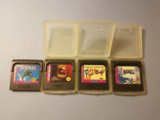 Sega Game Gear LOT OF 4 ECCO MORTAL KOMBAT REN AND STIMPY MADDEN 95 Carts Only