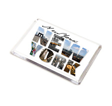 Jumbo FRIDGE MAGNET de Nueva York - 90 X 60 Mm-vacaciones recuerdo-EE. UU. America