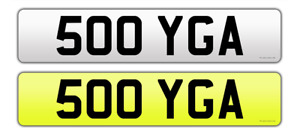 500 YGA DATELESS REGISTRATION PRIVATE PLATE CHERISHED PERSONAL YOGA MERCEDES 500