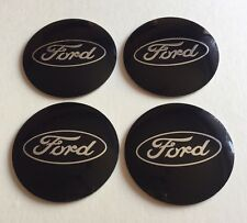 Black FORD Wheel Centre Hub Cap Emblems Badges Stickers 57mm full Set of 4
