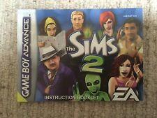 Sims 2-GAME BOY ADVANCE GBA solo manuale di istruzioni