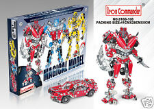 TRANSFORMERS LEGO RED ALERT BUILDING KIT, MECCANO TOYS METAL / 555 PCS / Red