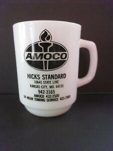 Anchor Hocking Advertising Mug Amoco Hicks Standard Kansas City Missouri EUC