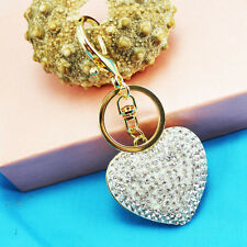 Heart Keychain Crystal Keyring Key Ring Chain Bag Charm Pendant Christmas gift