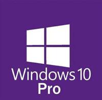 WINDOWS 10 PRO 32 / 64 BIT WIN 10  GENUINE LICENSE ORIGINAL ACTIVATION KEY HF