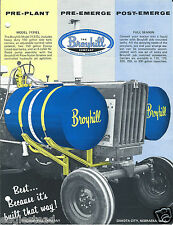 Farm Equipment Brochure - Broyhill - Chemical Tank Sprayer Products 1969 (F4047)