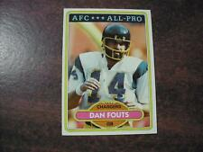 DAN FOUTS  CHARGERS 1980 TOPPS FOOTBALL CARD #320  EX TO NM
