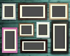 Black Oak White Pink Large Photo Picture Frame Poster Frames with Ivory Mount