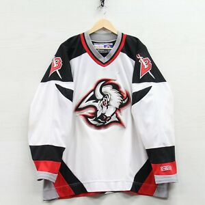 Vintage Buffalo Sabres CCM Maska Jersey Size 2XL 90s NHL Stitched Goat Head