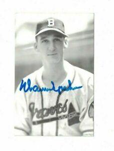 VINTAGE Warren Spahn Boston Braves Signed Postcard Photo W/Our COA PC43