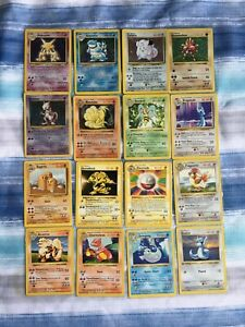 Pokémon Complete Non Holo 1st Edition Shadowless Base Set + Shadowless holos