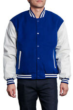 New Men's Wool & Leather Letterman College Baseball Varsity Jacket-VJ100A