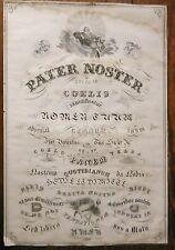 Incroyable et Immense dessin original religieux - Calligraphie - Circa 1850