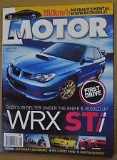 Motor Aug 2005 HSV Dealer Team Spec Clubsport Mazda RX-8 MX-5 Holden Monaro CV8