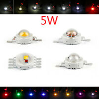 5W LED Beads Lamp Diodes High Power Chip Whi Red Blu Grn IR Spectrum USA