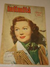 INTIMITA rivista 6 SETTEMBRE 1951 n. 289 = RHONDA FLEMING cover magazine =