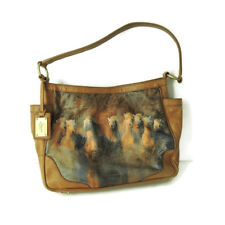 "ICON tote ""Charging Horses"" Jim Zuckerman handbag shoulder bag Art to wear"