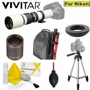 500MM/1000MM TELEPHOTO LENS + BACKPACK+ TRIPOD FOR NIKON D3000 D3100 D3200 D3300