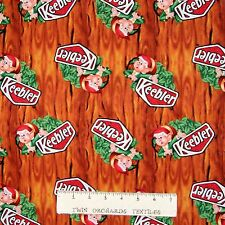 Candy Fabric - Kellogg Keebler Elf Cookie Toss on Wood - Springs YARD