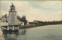 St. Andrews NB New Brunswick CPR Station & Lighthouse c1910 Postcard
