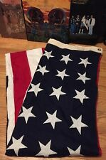 Vintage WWII 48 Star US American Nation Flag. Sewn Star Valley Forge. 5x9.5 Ft.