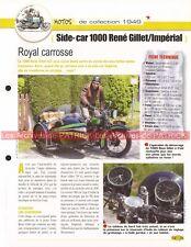 René GILLET 1000 + Side Car Impérial 1949 Joe Bar Team Fiche Moto #006413