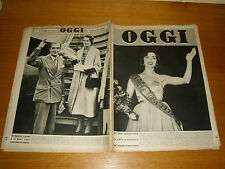 OGGI 1952/35=GUNSELI BASAR MISS EUROPE=MARCEL LOUBENS=ANTHONY EDEN=PINZOLO=
